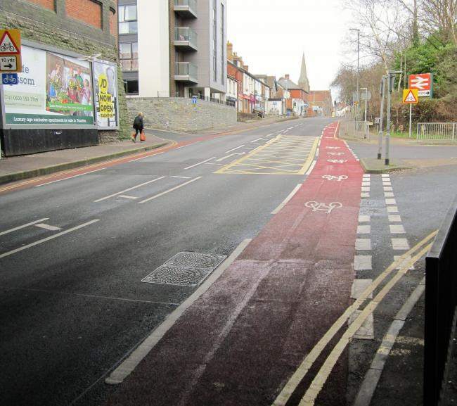 IMPROVEMENTS: The new road markings on Station Road