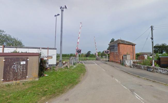 TrAGEDY: Stoke Canon level crossing where the railway employee died