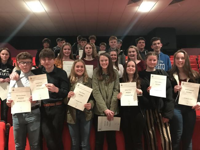 PRIZE COLLECTION: Wadham students honoured with DofE Awards at Westlands Leisure Complex