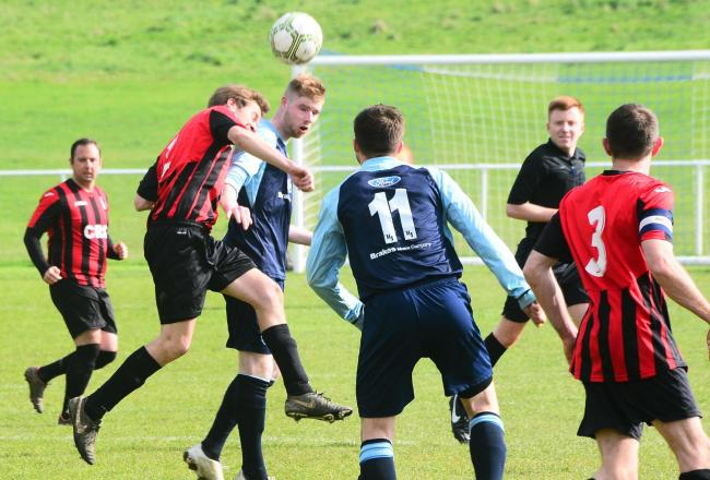 CLOSE CONTEST: Brad Miles put Ilminster Town ahead against Worle. Pic: Steve Richardson
