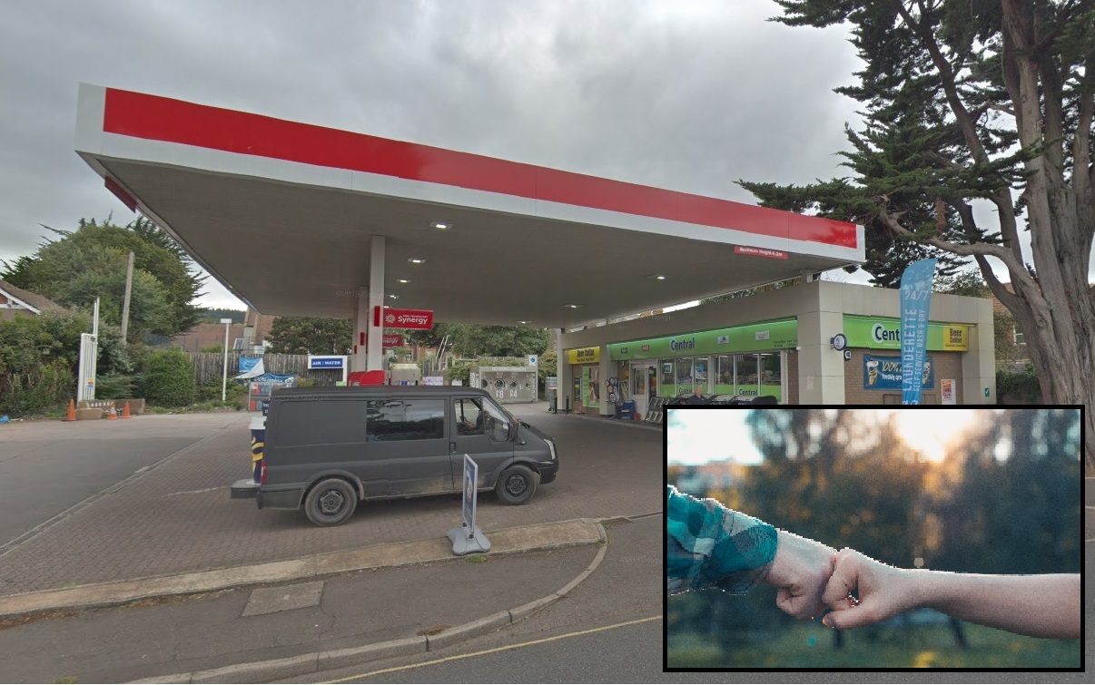 SENTENCED: Corey Chapple, 20, of Crossways, Taunton, robbed the petrol station in Townsend Road, Minehead