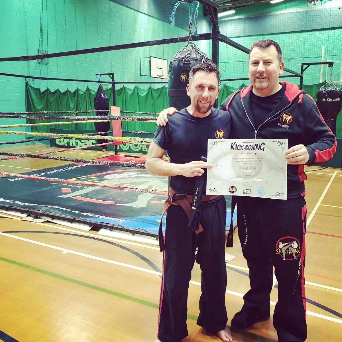 ACHIEVEMENT: Dave Bimson (left) with coach Mark Pengelly