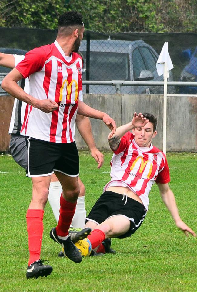 WINNING FINALE: Harry Horton in action for Bridgwater Town. Pic: Steve Richardson