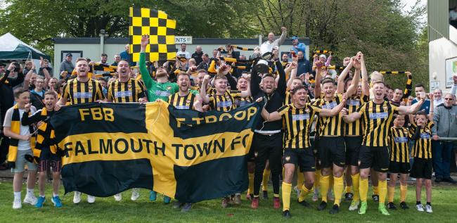 Falmouth Town are defending the title they won for the first time in 22 years back in April 2019. Picture by Colin Higgs