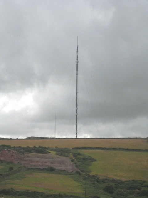 The TV transmitter at Carn Brea