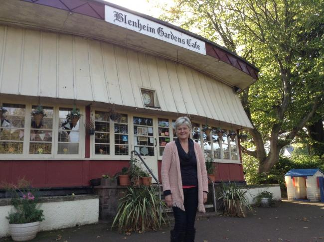 WHAT NEXT?: Suzanne Dean outside the Blenheim Gardens Cafe before it closed