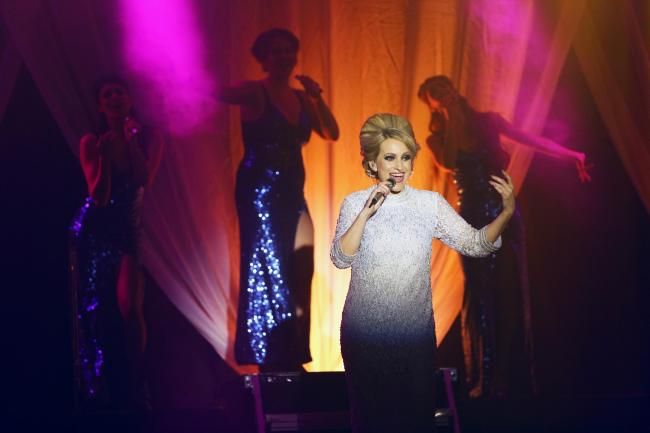STARS: Emily, as Dusty Springfield, performs in Bridgwater  on June 23. Photo: Rhian Cox