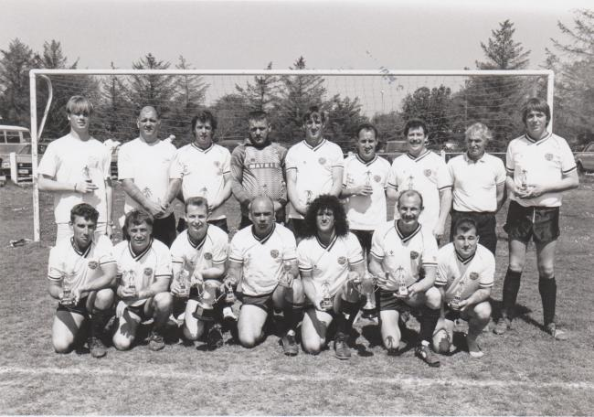 This week's photograph is of the Camborne Wanderers team from May 1990. Can you name them?