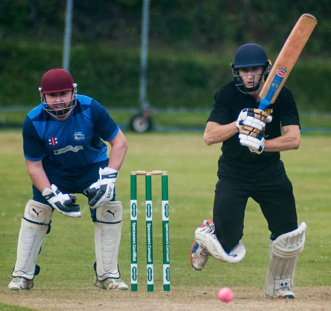 Falmouth batsman Scott Kellow in action against St Just last weekend. Picture by Colin Higgs