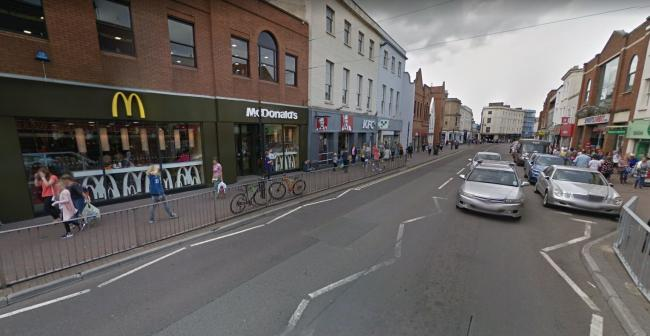 EAST STREET: Where two of the offences were committed