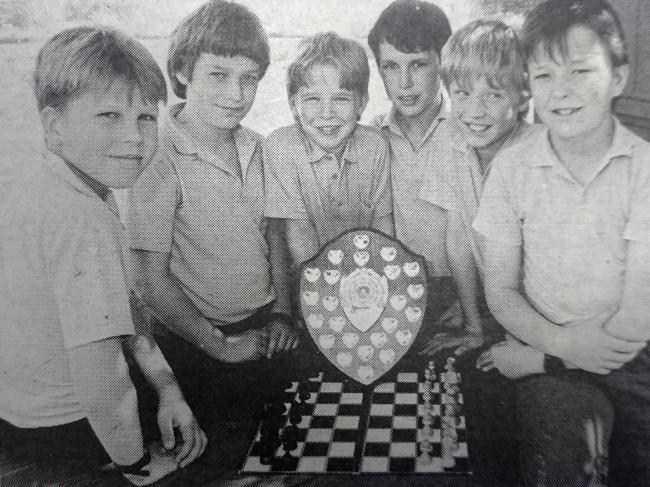 WINNERS: The St Joseph's chess team from 1989