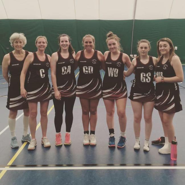 TUDOR: Trish Hutchinson, Charlotte O'Leary, Maddy Russell, Hayley Milne, Libby Binding, Millie Chappell, Jess Chappell