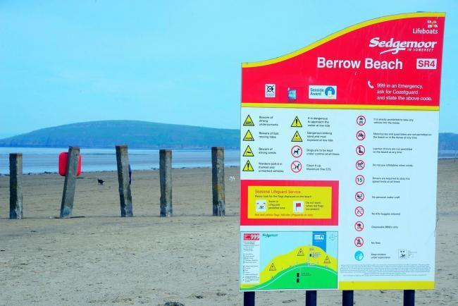 Access to Berrow Beach car park to be closed to visitors
