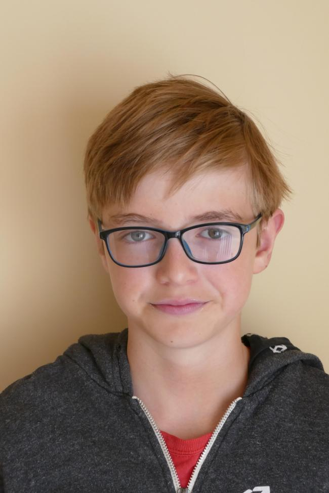 FINALIST: James Lindsay is in the 10 to 14 years BAFTA games category