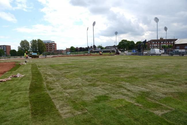 MORE ATTRACTIVE: The recently grassed over area of Firepool