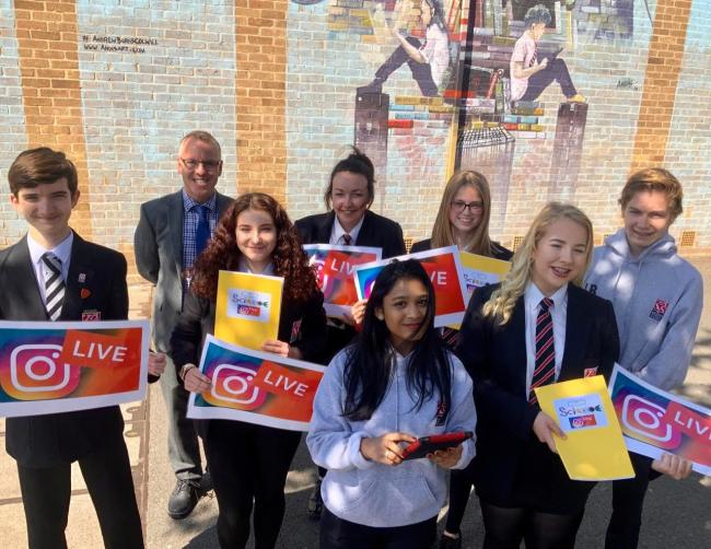 NEW VENTURE: Staff and students from The King Alfred School in Highbridge