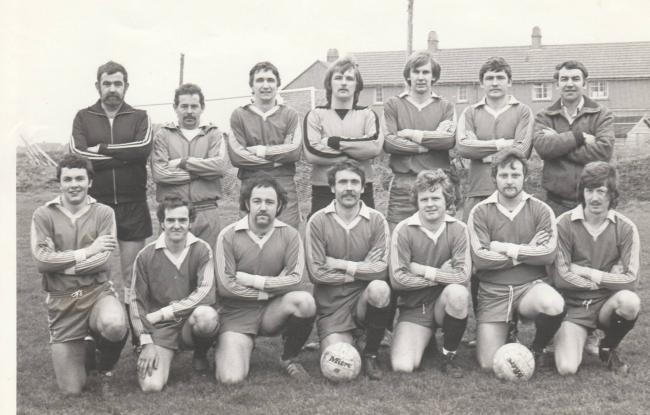 This week's photograph is of Falmouth Docks AFC, taken in 1982,