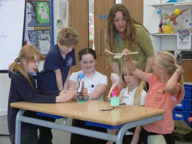 Year 6 pupils from Upton Cross and Pensilva primary schools recently took part in a puppetry workshop