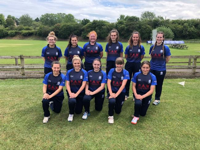 SUCCESS: Bridgwater Cricket Club's women's team pictured before their victory over Charlbury in Oxfordshire on Sunday (from left): Back: Charlotte Phillips, Laura Gibson, Bernadette Forge, Freya Farkas, Caitlin Burnett, Jemima Turner; front: A