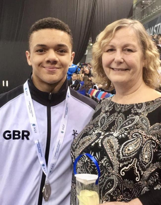 PICKED: Corey Walkes with coach Sue Bramble