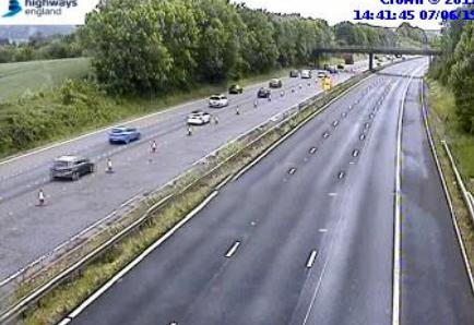 DELAYS: On the M5 through Somerset. PICTURE: Highways England