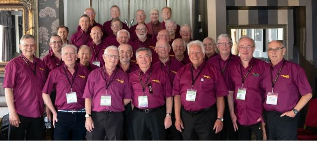 Rivertones at the Convention of the British Association of Barbershop singers