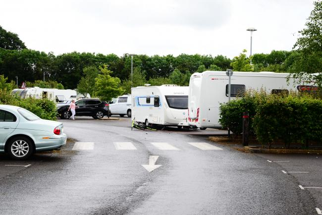 Travellers vehicles at Gateway Park and Ride pictured on Friday
