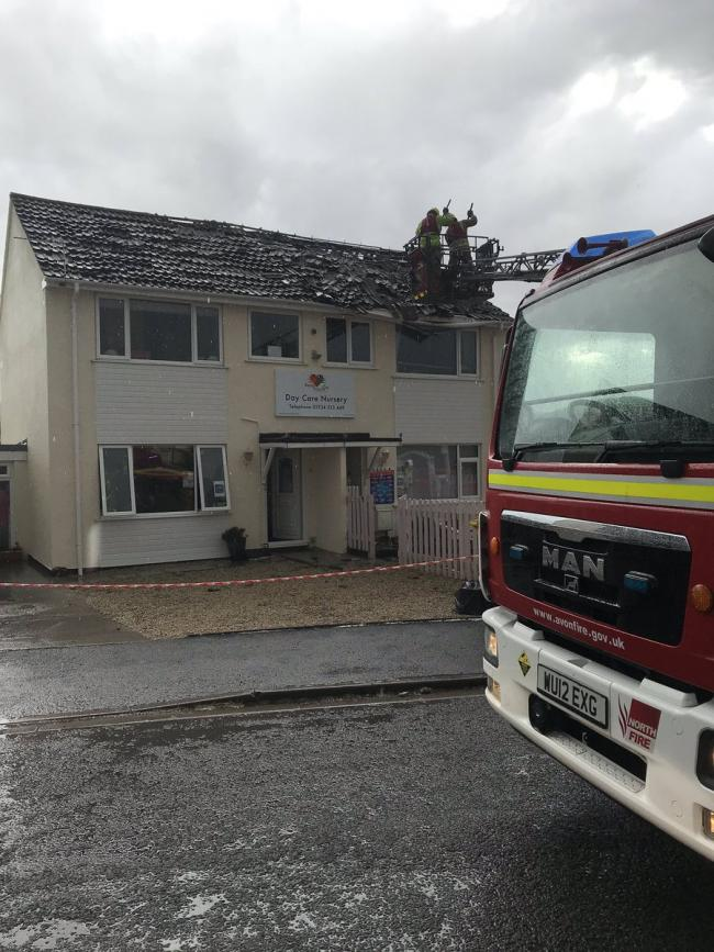 Lightning strike smashes into children's nursery in Somerset