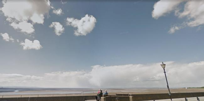 ESPLANADE: The beach in Burnham-ob-Sea where the body was found